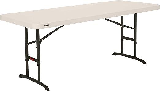 Lifetime Table Pliable Durable à Hauteur Ajustable 6ft ...