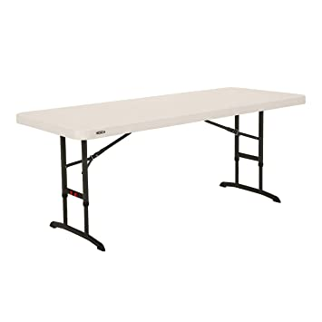 Lifetime 6 Ft 183 M Commercial Adjustable Height Folding Table