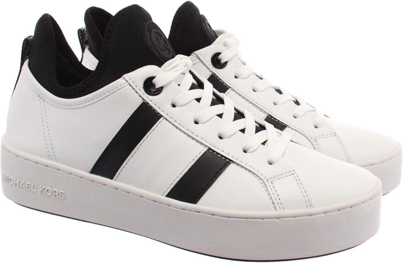 Sneakers Mujeres MICHAEL KORS 43R0ACFS2L Ace Stripe Cuero Blanco