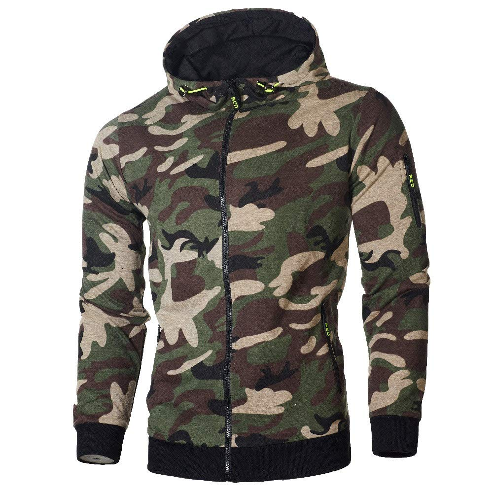 Corriee Fashion Tops for Men 2018 Cool Camouflage Zip Hooded Sweatshirts Mens Autumn Pullover Casual Go Out Hoodies by Corriee Men Hoodies (Image #3)