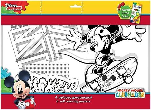 Guizmax 6 Grands Dessin Mickey Coloriage Disney 6 Feutres Amazon Fr Jeux Et Jouets