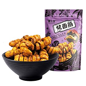 Food Wei Long La Tiao Spicy Snack, Chinese Special Snack Vegetarian Gluten Spicy Strip, office Casual snack, Easy to carry - 1 bag 160g