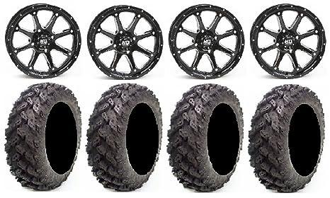 5+2 STI HD4 Gloss Black ATV Wheel 14x7 - 4//110 14HD400