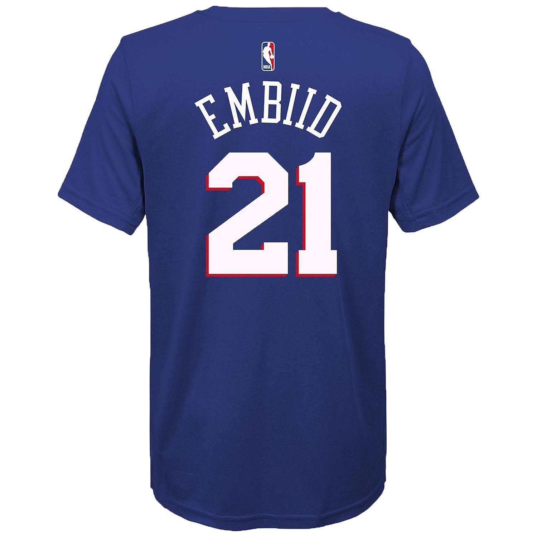 ac827e1eb Amazon.com  Outerstuff Joel Embiid Philadelphia 76ers Blue Youth Name   Number  T-Shirt  Sports   Outdoors