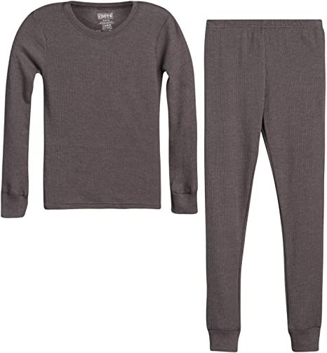 Only Boys Thermal Underwear Set Boys Winter Base-Layer Long Johns Waffle Knit Thermal Top and Pant 2 Full Sets