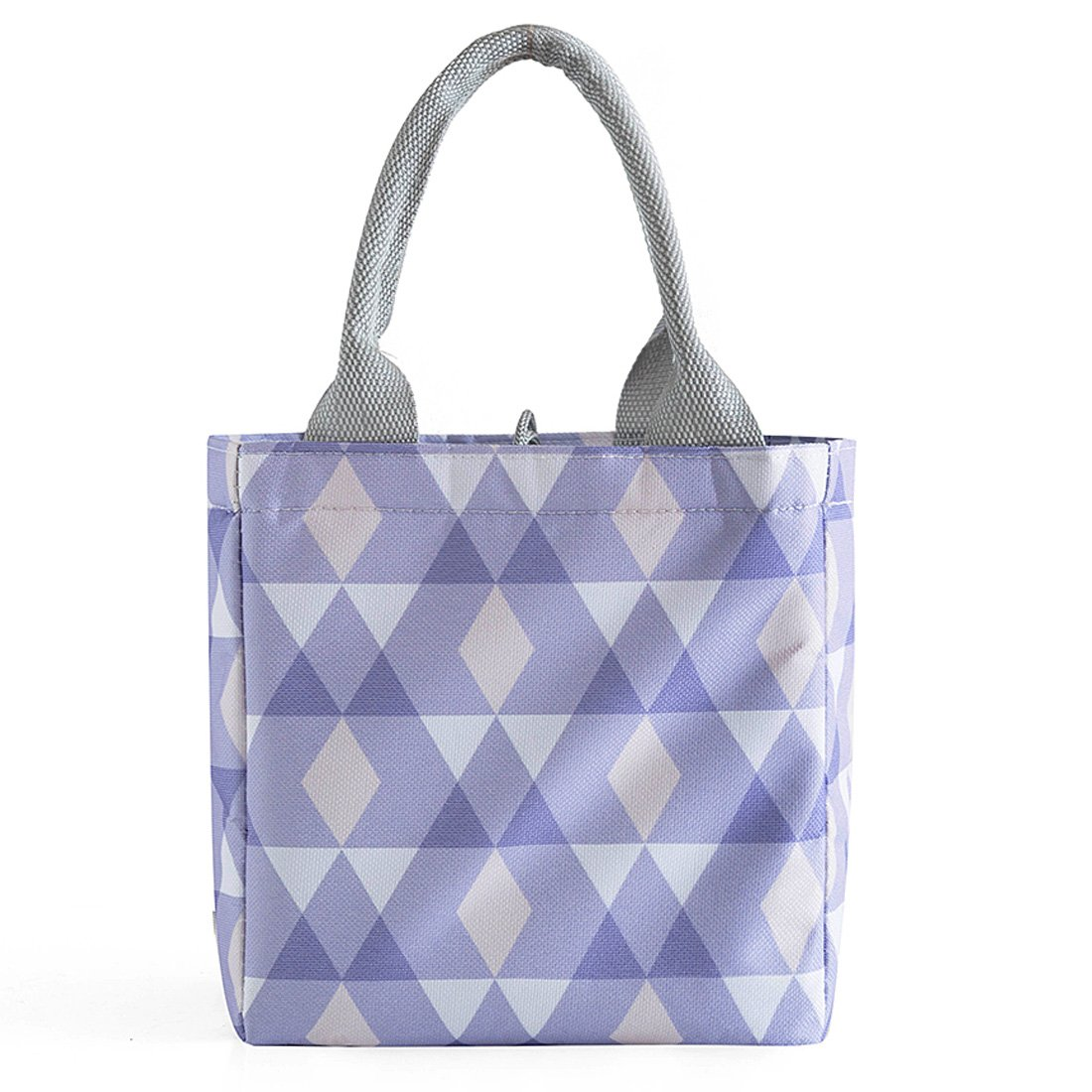 Oyachic Thermal Lunch Bag Insulated Tote Leakproof Drawstring Bag with Foil Liner for Office School and Picnic Purple diamond