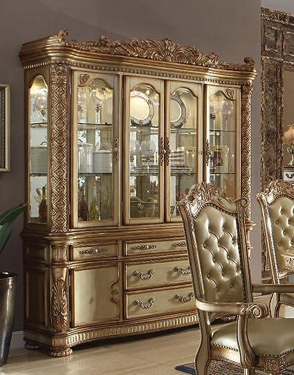 Superbe Acme Furniture ACME Vendome Gold Patina Hutch Buffet