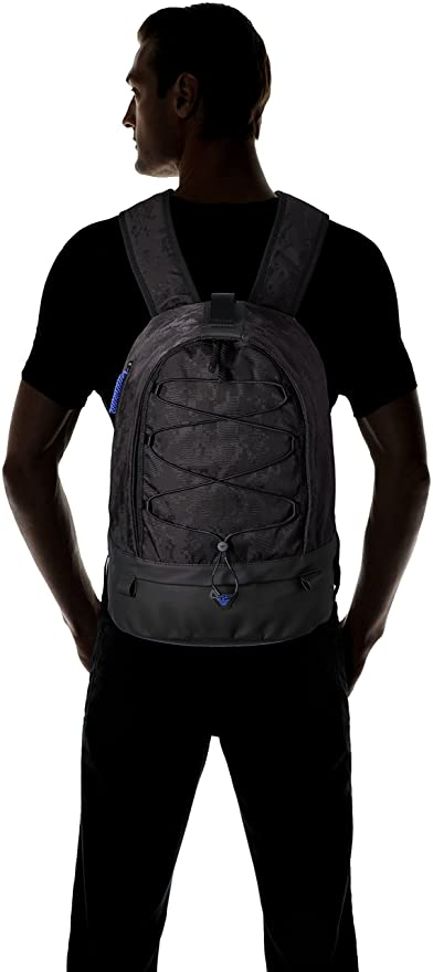 247266ae7b33 Amazon.com  Armani Jeans Men s Jacquard Fabric and Rubberized Backpack   Clothing