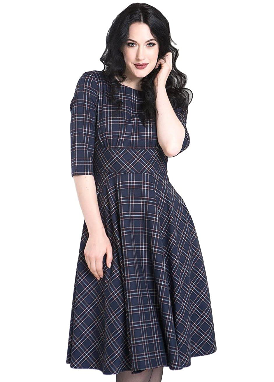 Hell Bunny Peebles Tartan 1950's Vintage Retro Dress