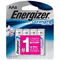 Energizer L91SBP-8 Ultimate Lithium AA Battery, 8 Count