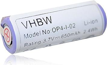 Batería vhbw 650mAh para maquina de afeitar Philips HS8020, HS8040 ...