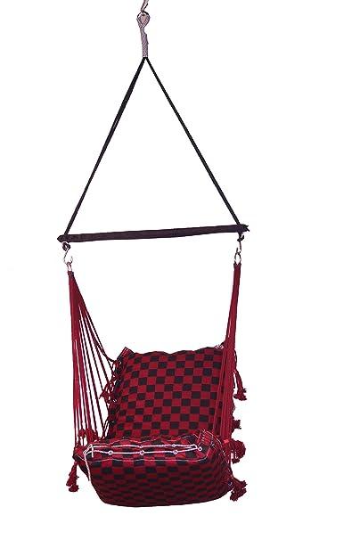 Porwal Swing Chair (Red, HSA-3004-RedBlack)