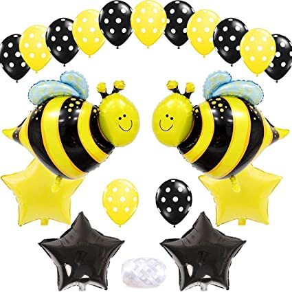 Amazon Com Bumblebee Party Decoration Bumble Bee Balloons