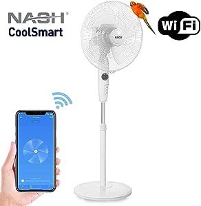 NASH Smart WiFi oscilante Pedestal Stand Fan 16 pulgadas, funciona ...