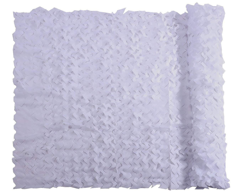 遮光網 迷彩ネッティングミリタリーネット軽量耐久性サンシェード装飾ハンティングブラインドシューティングカモネット 縦断勾配 E (Color : 白い, Size : 10x10m) 白い 10x10m