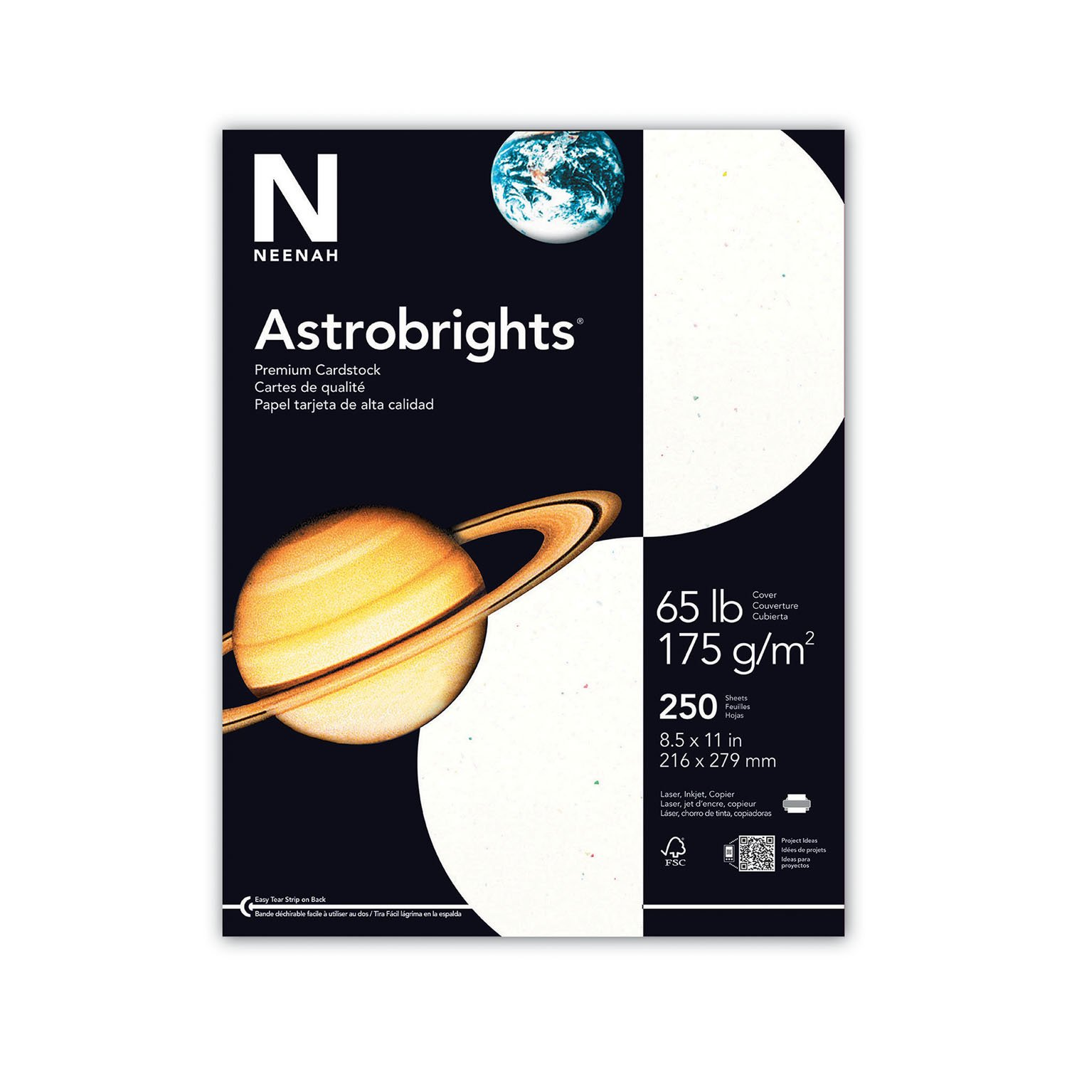 Multi colored cardstock paper - Neenah Stardust Specialty Cardstock 8 5 X 11 Inches White 250 Count 2140