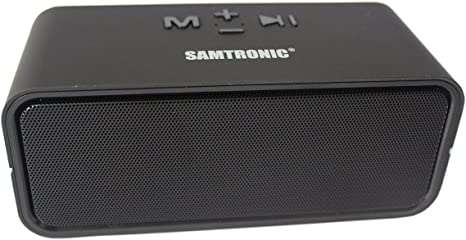 samtronic Mini pequeño altavoz inalámbrico Bluetooth portátil con gran sonido y graves potentes, tamaño de bolsillo altavoz Bluetooth micrófono incorporado para iPhone, iPad, Samsung, Nexus, TV, portátiles negro: Amazon.es: Electrónica