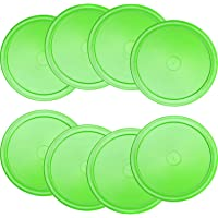 Gejoy 8 Pieces Air Hockey Pucks Replacement Round Pucks for Game Tables, Equipment, Accessories
