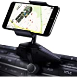 Qgeen Universal 360-Degree Rotation CD Slot Car Cell Phone Mount Holder Cradle for iPhone X 7 Plus Samsung Galaxy S8 + Note 8 Moto LG Huawei Sony HTC