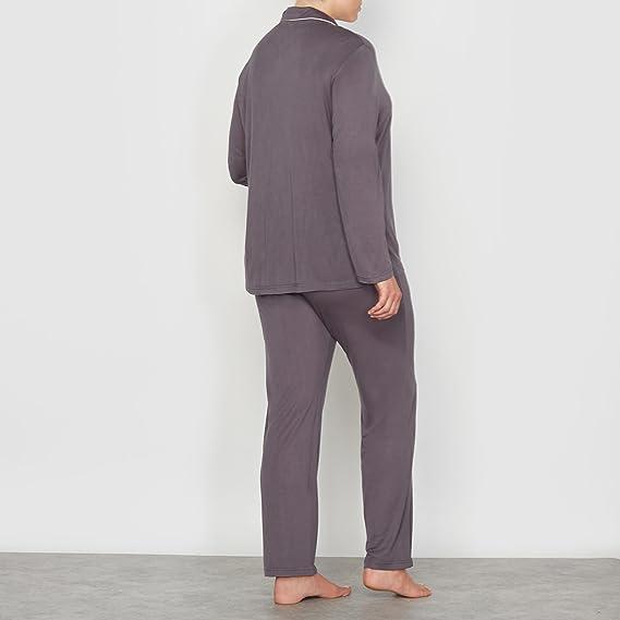 La Redoute - Pijama - para Mujer Antracita 44: Amazon.es: Ropa y accesorios