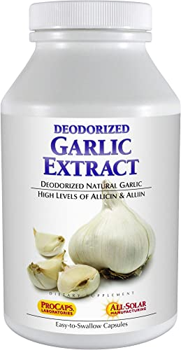 Andrew Lessman Garlic Extract 60 Capsules Promotes Heart and Cardiovascular Health. Protective Sulfur-Based Compounds. Pure, Gentle, Odorless. No Aftertaste, No Stomach Upset, No Additives