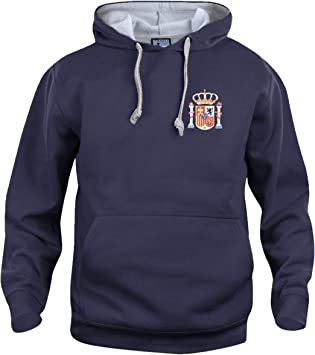 Old School Football Retro España Sudadera DE Futbol Nuevas Tallas s-3xl Logotipo Bordado - Azul Marino, Medium: Amazon.es: Deportes y aire libre