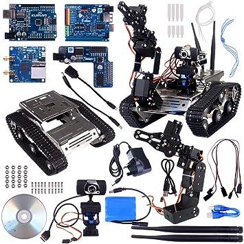 Kuman Wireless Wifi Manipulator Robot Car Kit For Arduino Utility