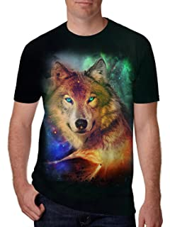 84e3040e179a Leapparel Unisex Short Sleeve 3D Digital Printed Personalized T Shirts Tees