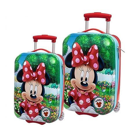 Disney Minnie Garden Juego de Maletas, 33 litros, Color Rojo
