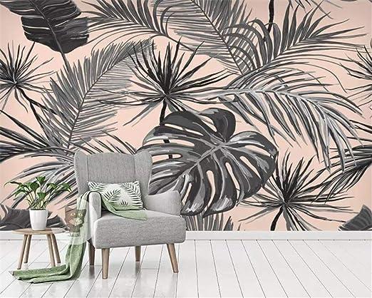 Carta Da Parati Living Walls.Amazon Com 2020 3d Wallpapers Living Room Bedroom Murals Tropical Plant Banana Leaf Tv Wall Wallpapers For Walls 3 D Carta Da Parati 400x280cm Kitchen Dining