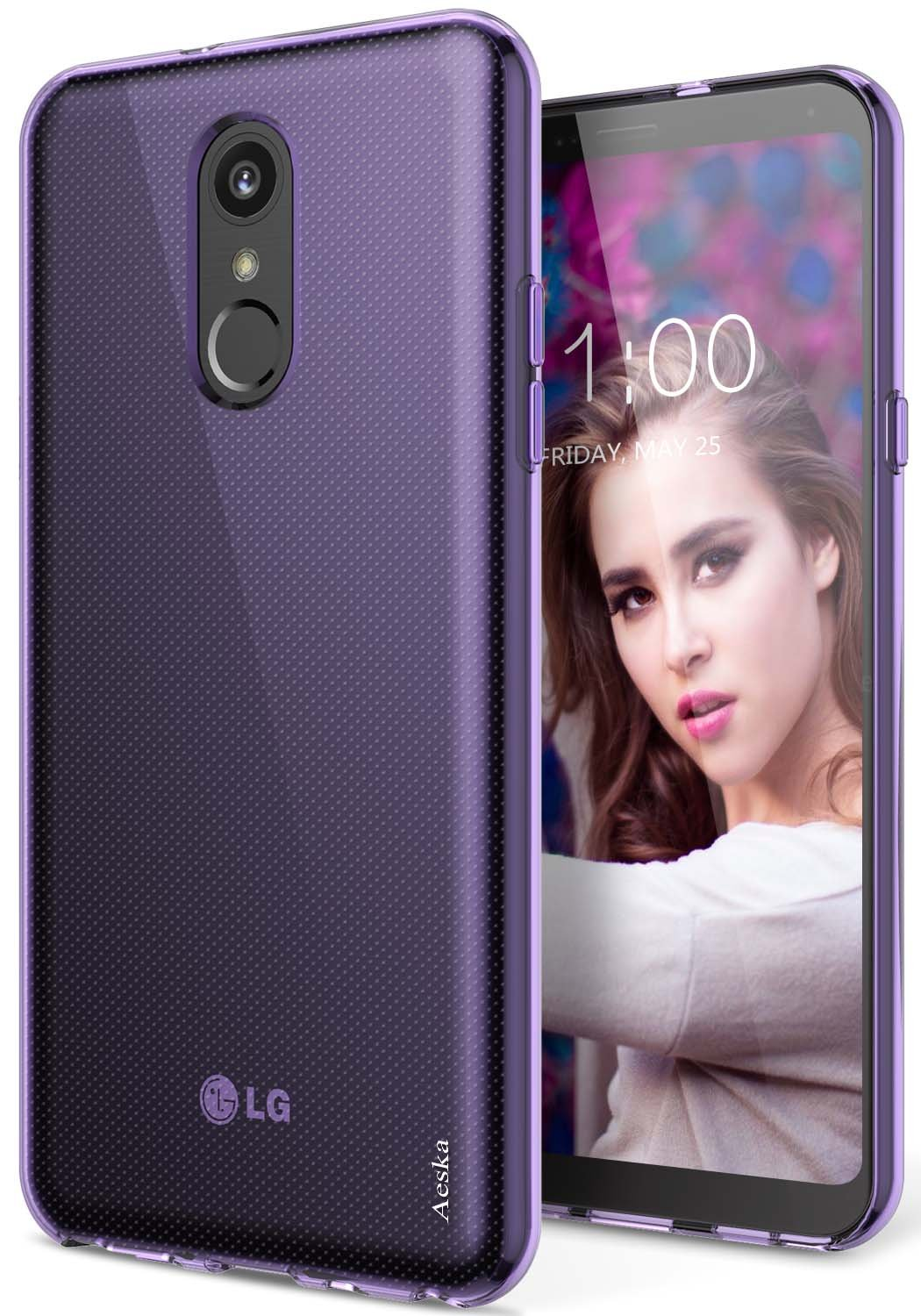 LG Stylo 4 Case, LG Q Stylus Case, Aeska Ultra [Slim Thin] Flexible TPU Soft Skin Silicone Protective Case Cover for LG Stylo 4 / LG Q Stylus (Purple)