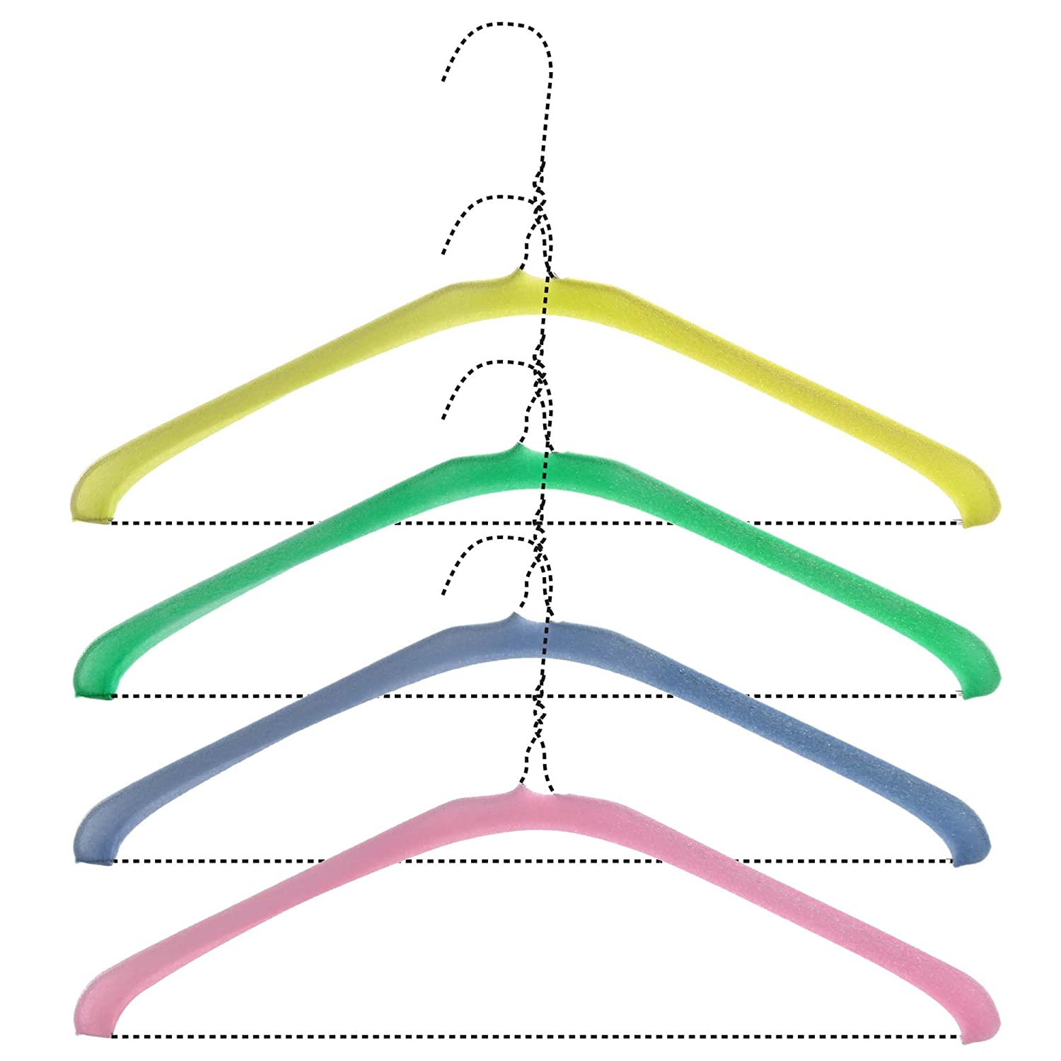 HANGERWORLD 50 Foam Wire Hanger Covers Garment Protector Shoulder Guards Non Slip Dry Cleaning Laundry. CC-FOAMCOVERS