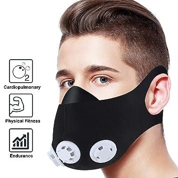 OUTEFDO Mascara de Entrenamiento Deportivo Formacion Elevacion de la Mascara Ajustable 2.0 Altitud Entrenamiento Anaerobico Color