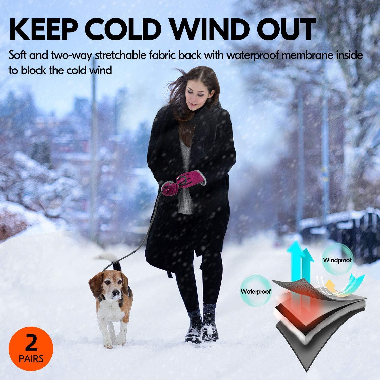 Vgo.. Wintersport- oder Arbeitshandschuhe Outdoor- 1 Paar, 9//L, Schwarz, SL9644FW Fleece von 3M Thinsulate C40 Touchscreen /über 0℃