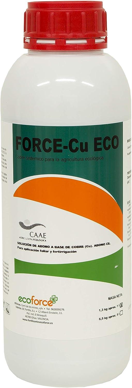 CULTIVERS Force-CU de 1 l. Fungicida de Cobre Ecológico que Mejora el Sistema de Defensa de la Planta contra el Desarrollo de Enfermedades