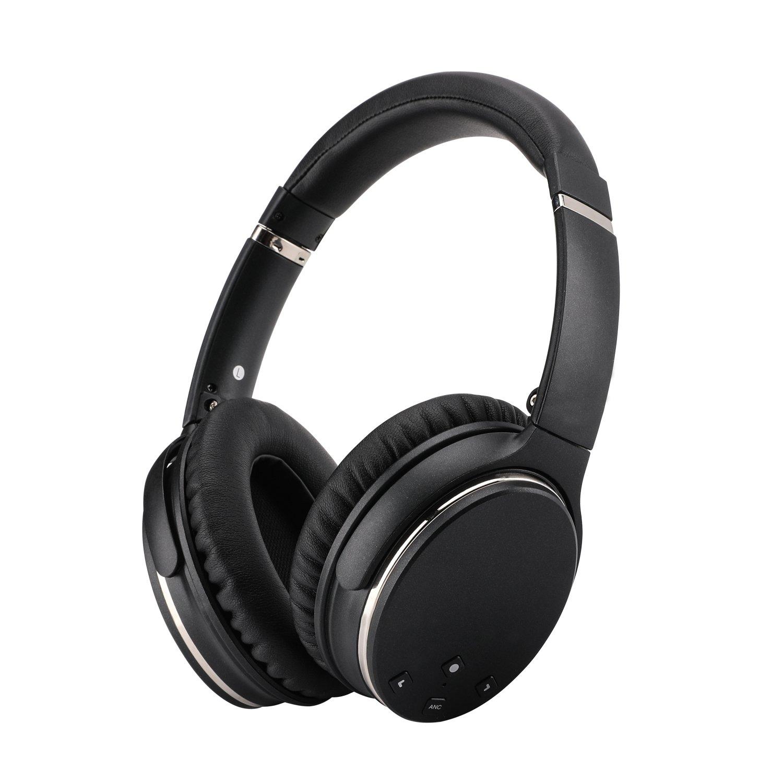 Auriculares KIKUCHI Cancelacion de Ruido Activa Bluetooth con Mic Inalambrico/Con Cable HIFI Deep Bass Over-Ear Earphone