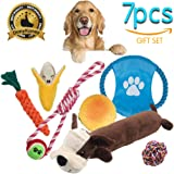Dog Toys 7Pack Gift Set, Variety Pet Dogs Toy Set for Medium to Small Doggie