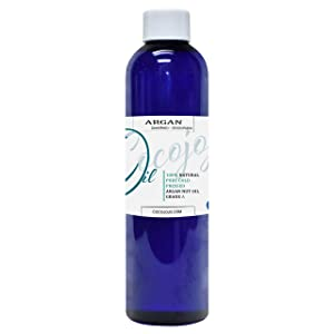 Argan Oil Deodorized (Unscented) 8 oz – 100% Pure & Natural Moroccan Argan Oil Filtered to Reduce Smell– Deep Penetrating Moisturizer and Stimulate Growth - Marrakesh Oil (8 ounce Bottle)