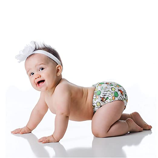 Image: Bumkins All-In-One Cloth Diaper | Three snap-downs on the front of the diaper allow you to easily adjust the size of the diaper as your baby grows