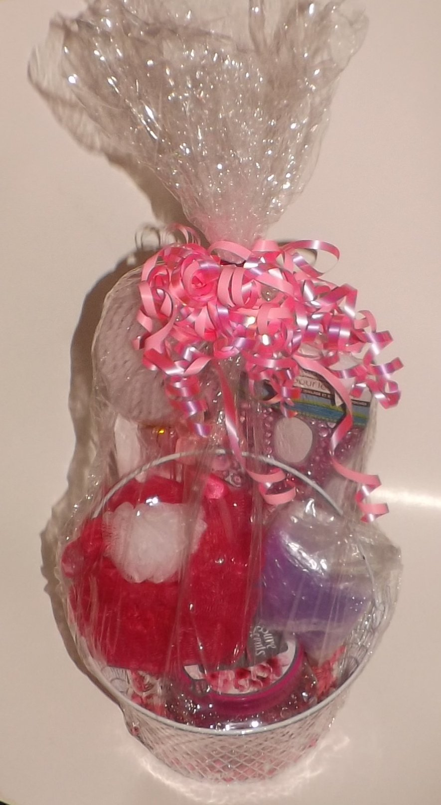 Birthday Mother's Day Gift Basket - Pink - 10 piece bundle