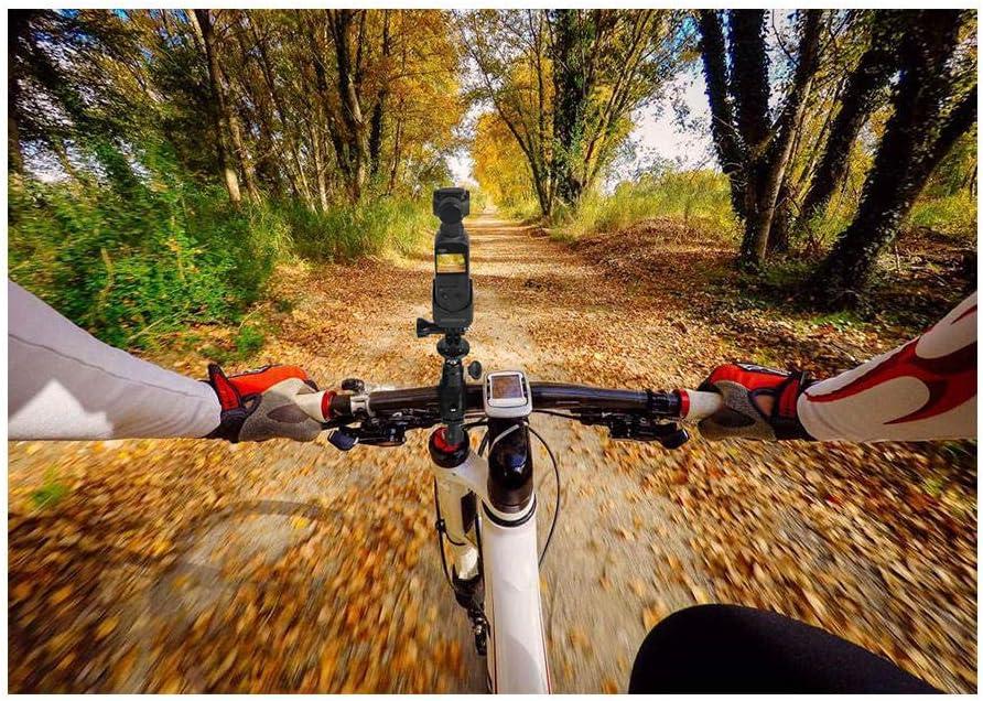 Ansemen Bicicleta Stand Holder Bicicleta Manillar Soporte Fijo Abrazadera/con 1//4 Tornillo Adaptador Accesorio/para dji Osmo Pocket