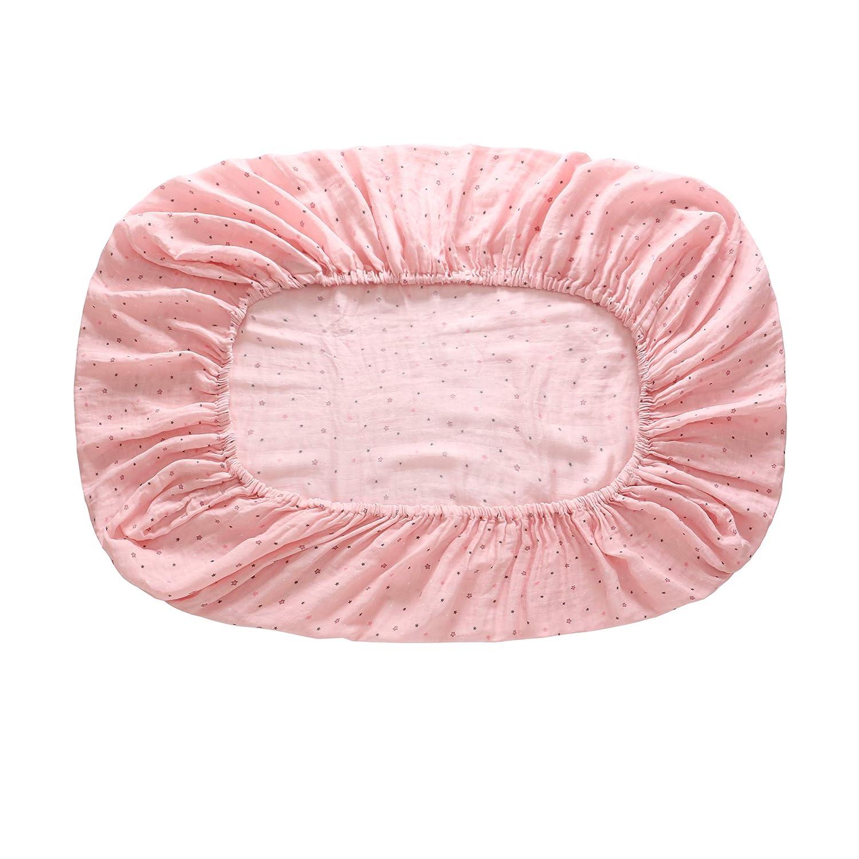Rose B/éb/é adapt/é drap de lit pour lit de b/éb/é standard coton mousseline enfant en bas /âge p/épini/ère literie housse de matelas de protection 52x 28 x 8