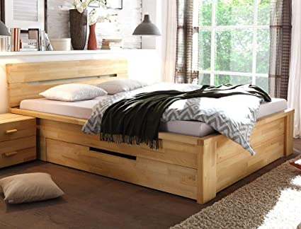 Camere Da Letto In Legno Naturale : Letto in legno caspar in legno di faggio naturale oliato