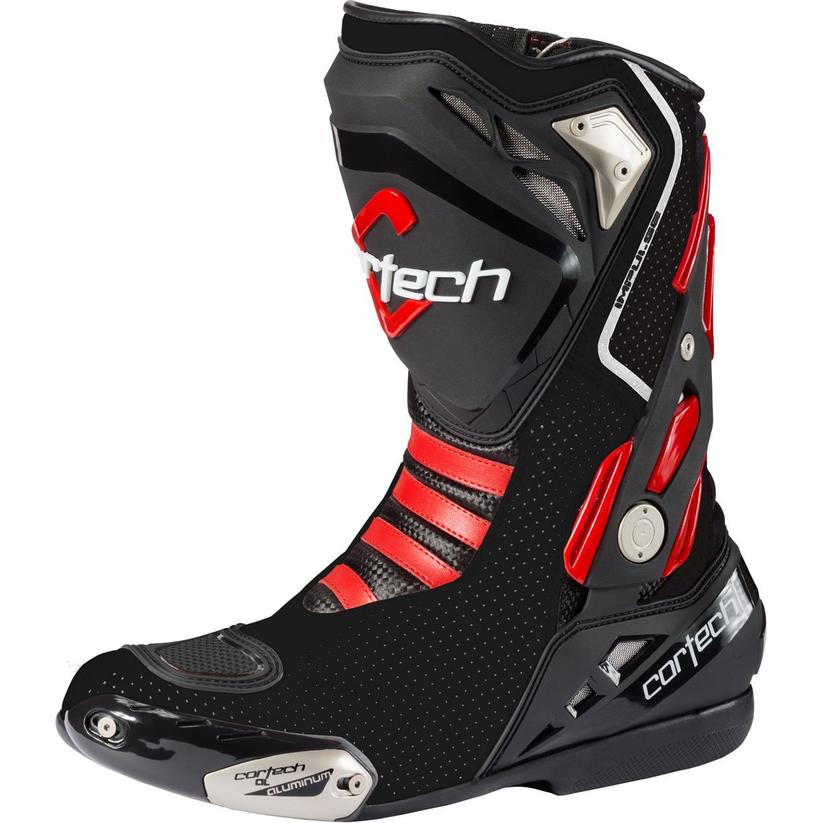 Cortech Men's Impulse Air Road Race Boot(White/Red, Size 11), 1 Pack 8514-0001-45