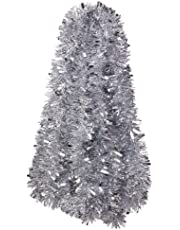 VEYLIN 10 Meter Sliver Xmas Decoration Tinsel for Christmas Tree Home Office Supplies