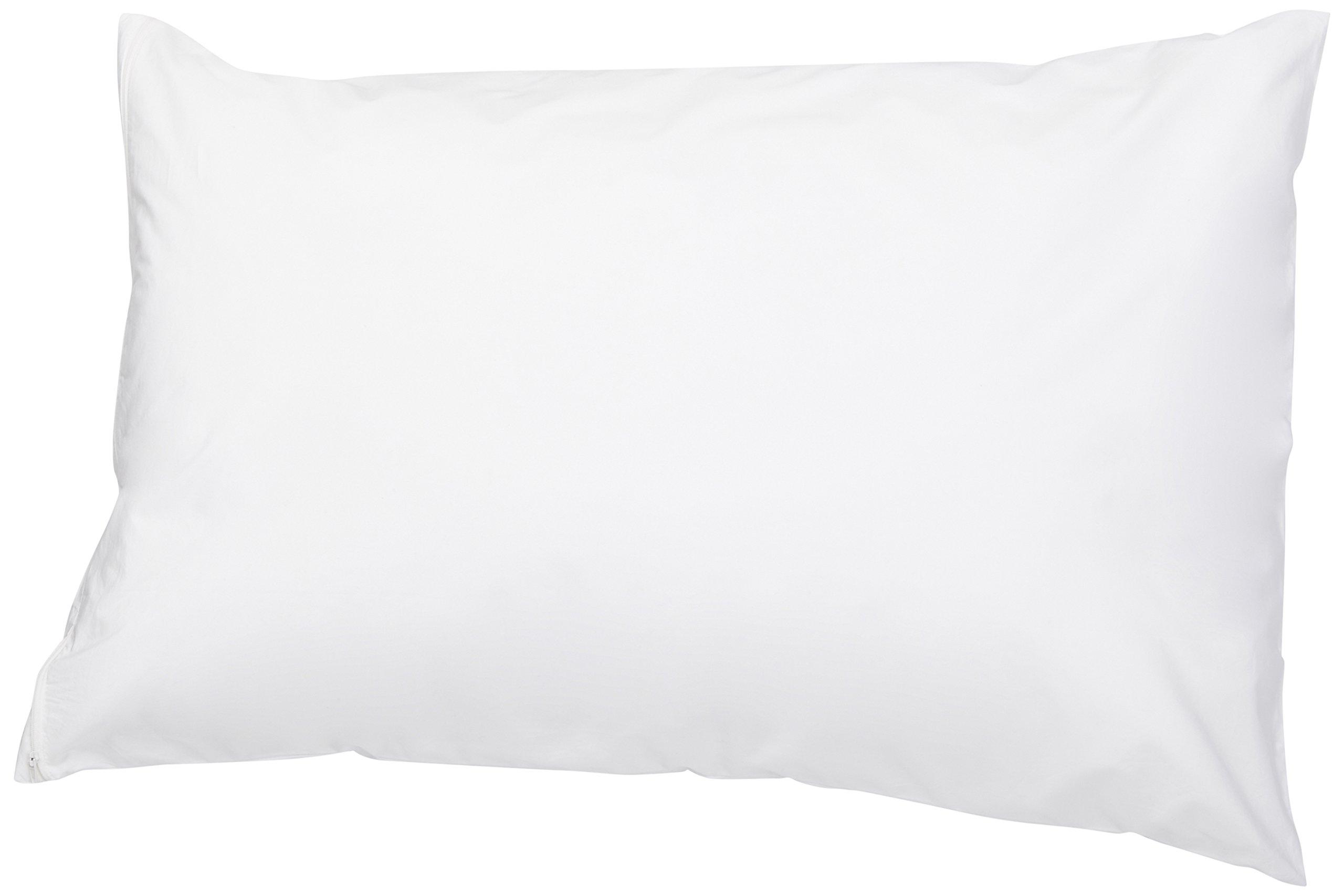 AmazonBasics Hypoallergenic Pillow Protector, White, Queen