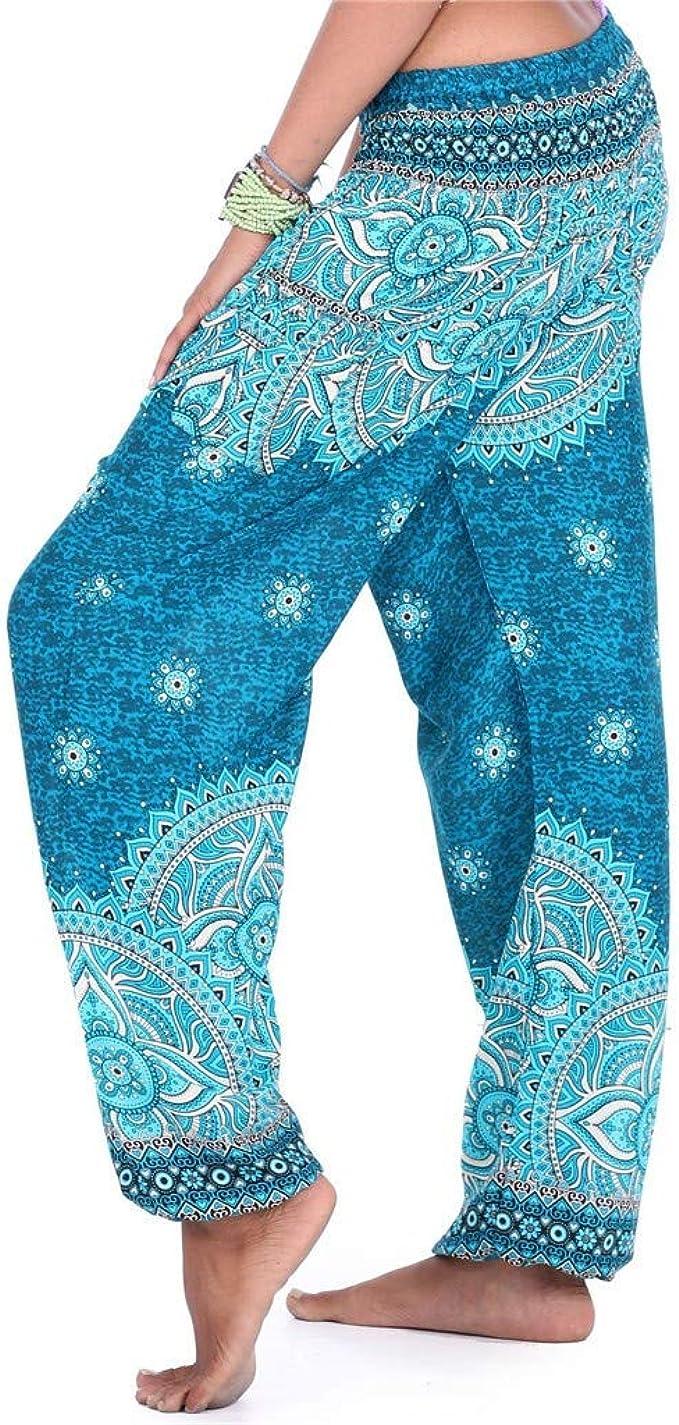 Kaicran Womens Wide Leg Palazzo Yoga Pants Smocked Waist ...