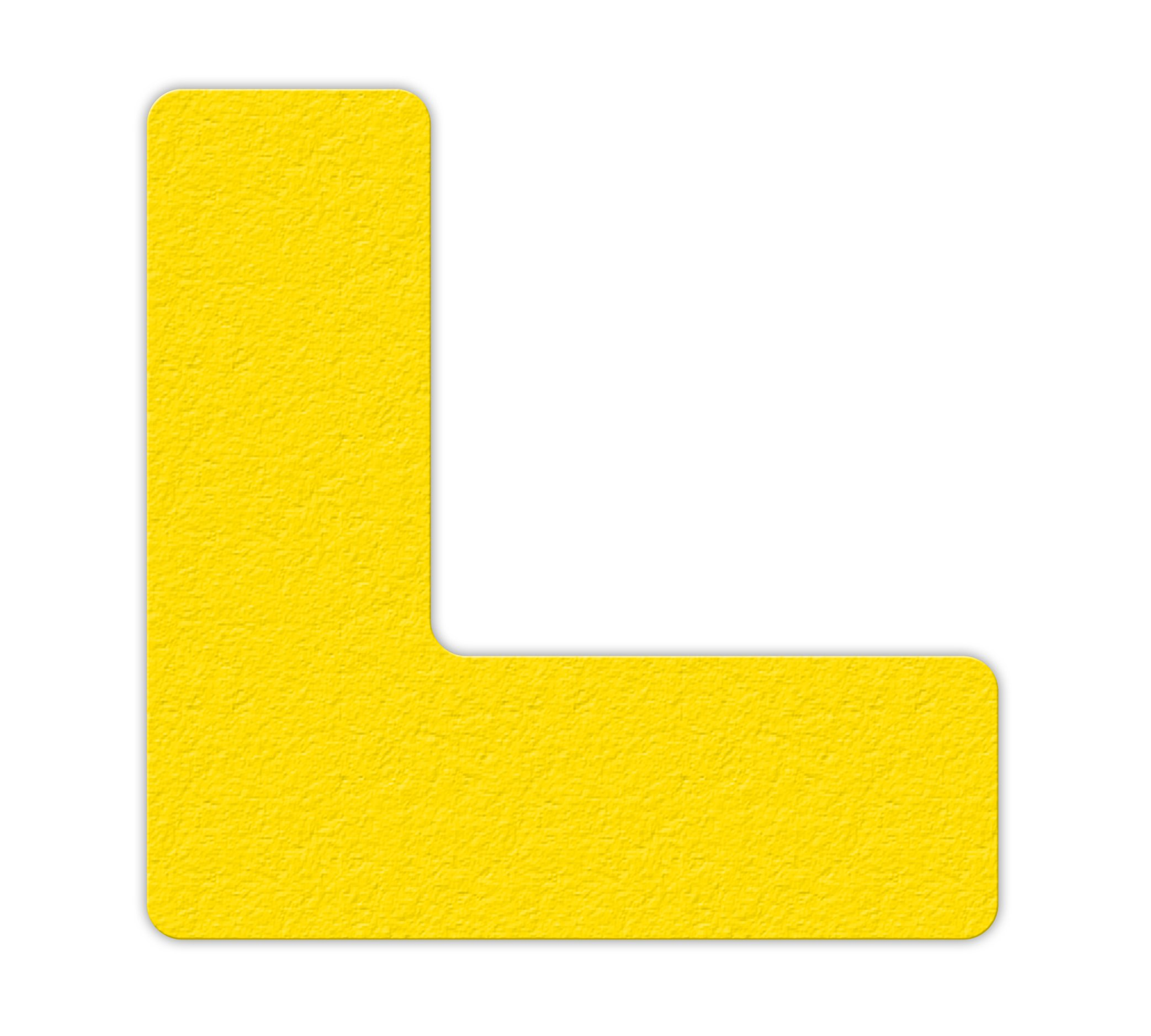 INCOM Manufacturing: LM110Y Textured Anti-Slip 5S Lean Workplace Floor Marker Corner Strip''L'' Shape, 6'' x 6'', Yellow (Pack of 25)