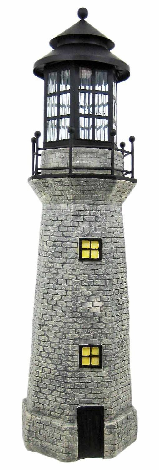 Delicieux Amazon.com : Solar Lighthouse Garden Figurine Light, Gray Color, 39 :  Outdoor Figurine Lights : Garden U0026 Outdoor