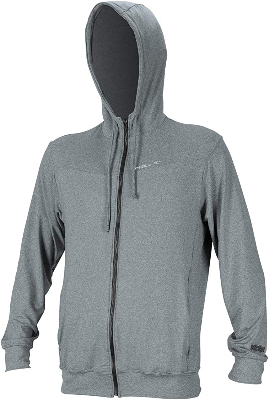 O'Neill Men's Hybrid UPF 50+ Long Sleeve Full Zip Sun Hoodie: Clothing